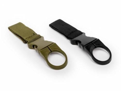 Flaschenhalter-Set Nylon schwarz und oliv passend für Gürtelbreite 40mm - Bild vergrößern