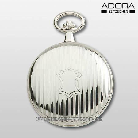 Savonette-Taschenuhr silberfarben poliert arabische Indexe von Adora (*AD*TU*) - Produktbild