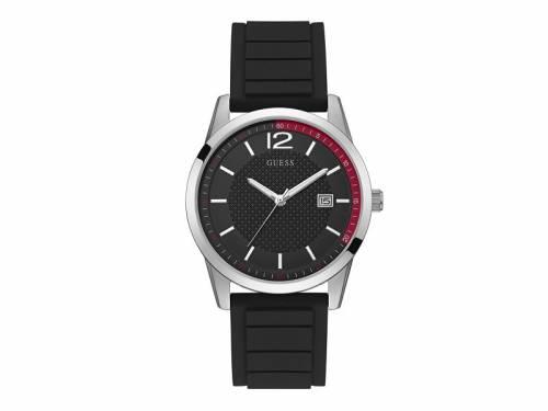 Armbanduhr -Perry- Edelstahl silberfarben Ziffernblatt schwarz/rot von GUESS (*GS*AU*) - Bild vergrößern