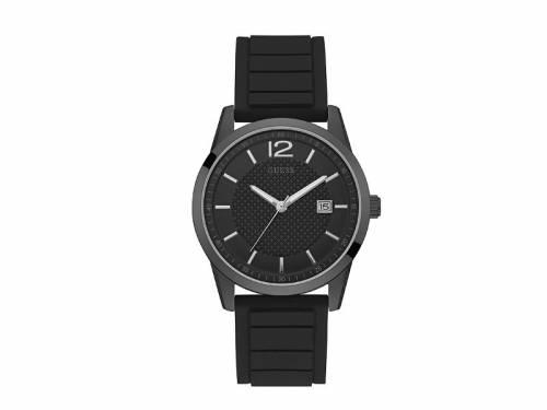 Armbanduhr -Perry- Edelstahl schwarz Ziffernblatt schwarz von GUESS (*GS*AU*) - Bild vergrößern
