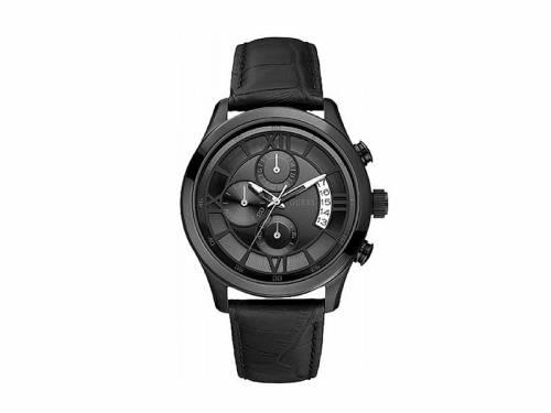Herrenuhr Chronograph -Capitol- Edelstahl schwarz Ziffernblatt schwarz von GUESS (*GS*HU*) - Bild vergrößern