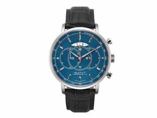 Chronograph -Cameron- Edelstahl silberfarben Ziffernblatt dunkelblau von GANT (*GT*HU*) - Bild vergrößern