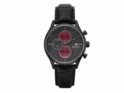 Chronograph -Vermont- Edelstahl schwarz Ziffernblatt schwarz/rot von GANT (*GT*HU*) - Bild vergrößern