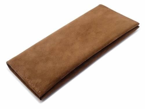 Exklusive Dokumenten-Tasche für Reisen & mehr aus Nubuk-Leder und Holz braun von Walt - Bild vergrößern