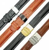 Lederbänder mit Faltschließe in diversen Ausführungen
