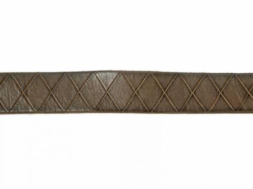 Hochwertiger Ledergürtel dunkelgrün Rautenmuster - Größe 105 (Breite ca. 4cm) - Bild vergrößern