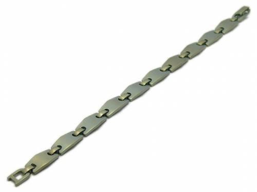 Schmuck-Armband Titan Gliederband dunkelgelb von Vollmer - Bandlänge ca. 19cm - Bild vergrößern