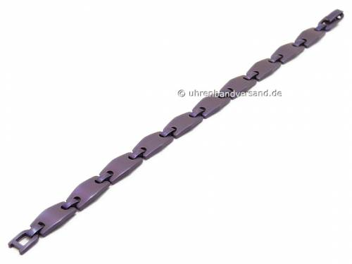 Schmuck-Armband Titan Gliederband lila von Vollmer - Bandlänge ca. 19cm - Bild vergrößern