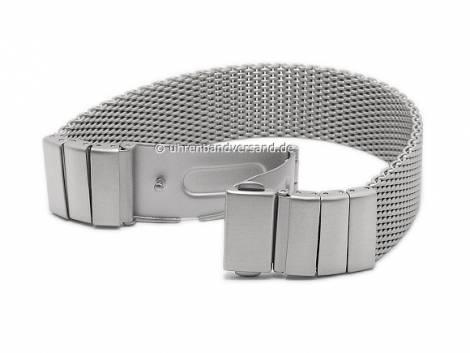 Schmuck-Armband Edelstahl Milanaiseband stahlfarben mit SES-Gliedern von Vollmer - Bandlänge ca. 19,5cm - Bild vergrößern
