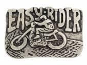 Gürtelschließe Metall altsilberfarben Easy-Rider passend für Gürtelbreite 40 mm