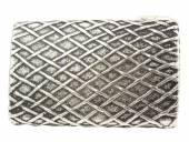Gürtelschließe Metall altsilberfarben Webmuster passend für Gürtelbreite 40 mm