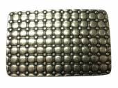 Gürtelschließe Metall altsilberfarben Mosaik-Motiv passend für Gürtelbreite 40 mm