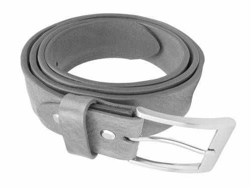 Gürtel aus Vollrindleder hellbraun Used-Look - Größe 85 (Breite 3,5 cm) - Bild vergrößern