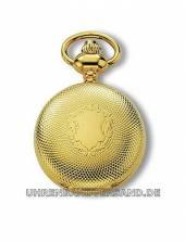 Savonette-Anhängeuhr goldfarben Wappen Ziffernblatt weiß von Claude Pascal (*CL*AU*)