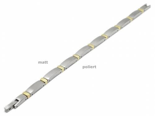 Schmuck-Armband Titan titanfarben/goldfarben Verschluß Titan von CEM - Bandlänge ca. 19cm - Bild vergrößern