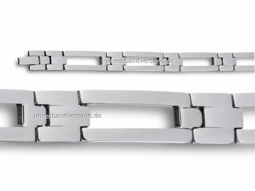 Schmuck-Armband Edelstahl massiv silberfarben von Eichmüller - Bandlänge ca. 20,5cm - Bild vergrößern