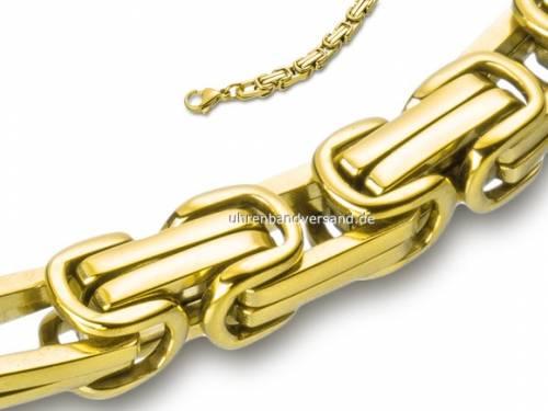 Schmuck-Armband Königskette Edelstahl goldfarben von Eichmüller - Bandlänge ca. 22cm - Bild vergrößern