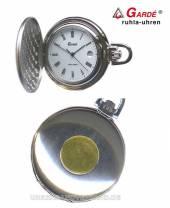 Kompakte Taschenuhr bicolor Ziffernblatt weiß von Gardé (Ruhla) (*GD*TU*)