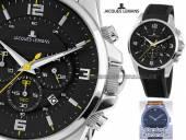 Chronograph sportives Design Ziffernblatt schwarz von Jacques Lemans (*JL*HU*)