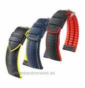 Hightech-Uhrbänder Leder/Kautschuk aus der Performance-Kollektion von HIRSCH