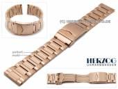 Uhrenarmband 24mm Edelstahl roségoldfarben elegant teilweise poliert mit Sicherheitsfaltschließe von HERZOG