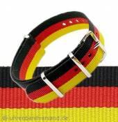 NATO-Durchzugsband schwarz/rot/gold Textil
