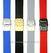 MySportivo-01: Kautschuk-Uhrenarmbänder mit Faltschließe im sportlichen Design von Meyhofer  MADE IN EUROPE