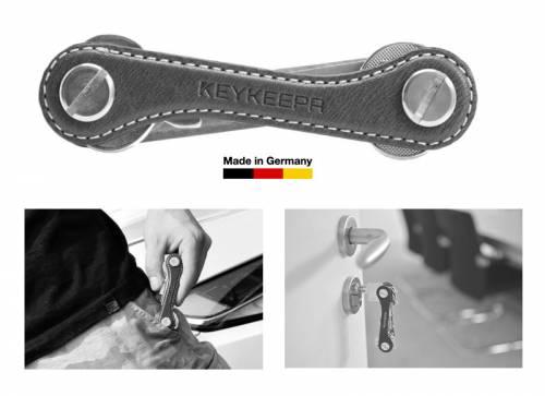 KEYKEEPA Schlüsselorganizer Leder mocca - Made in Germany - Bild vergrößern