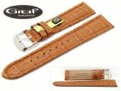 Uhrenarmband Swing 22mm hellbraun echt Alligator Louisiana Wulst von Graf (Schließenanstoß 20 mm)