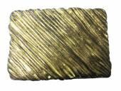 Gürtelschließe Metall altgoldfarben Stripes-Motiv passend für Gürtelbreite 40 mm