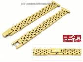 Edelstahl-Uhrband 14mm vergoldet poliert elegant von BEAR