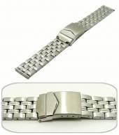 Uhrenarmband Edelstahl 20mm Massiv-Optik sportlich-elegantes von Eichmüller