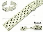 Uhrenarmband 20mm Edelstahl massiv teilweise poliert passend für Breitling etc. von Eichmüller