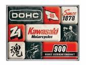 Deko-Magnet-Set 9teilig Kawasaki - Motorcycles Since 1878 Retro-Style von Nostalgic-Art