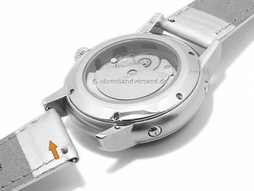 Uhrenarmband -Trend- 20mm EASY-CLICK hellgrau Synthetik GREEN COLLECTION von MORELLATO (Schließenanstoß 18 mm) - Bild vergrößern