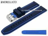 Uhrenarmband Tarim 22mm dunkelblau/blau Silikon mit Struktur Streifen blau von MORELLATO (Schließenanstoß 20 mm)