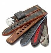 Multicolor-Uhrbänder Leder/Kunststoff/Textil in diversen Farbkombinationen