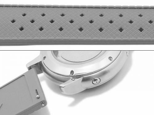 Meyhofer EASY-CLICK Uhrenarmband -Minatare- 20mm rot Silikon Karbon-Look Racing-Style (Schließenanstoß 18 mm) - Bild vergrößern