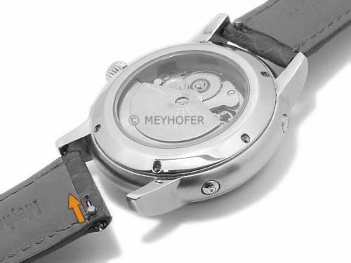 1a Angebot: Meyhofer EASY-CLICK Uhrenarmband -Kulmbach- 18mm dunkelgrün echt Alligator-Leder (Schließenanstoß 16 mm) - Bild vergrößern