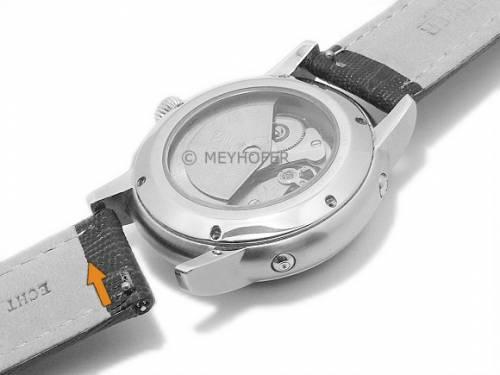 Meyhofer EASY-CLICK Uhrenarmband -Agudo- 20mm rot Leder Teju-Prägung helle Naht (Schließenanstoß 20 mm) - Bild vergrößern