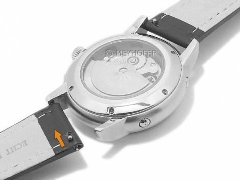 Meyhofer EASY-CLICK Uhrenarmband -Paonia- 20mm rot Leder glatt helle Naht Faltschließe (Schließenanstoß 18 mm) - Bild vergrößern