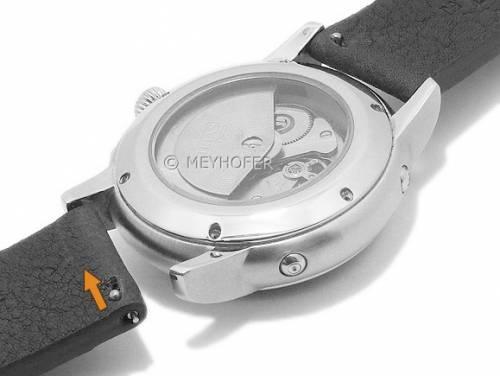 Meyhofer EASY-CLICK Uhrenarmband -Worland- 24mm military Leder genarbt ohne Naht (Schließenanstoß 22 mm) - Bild vergrößern