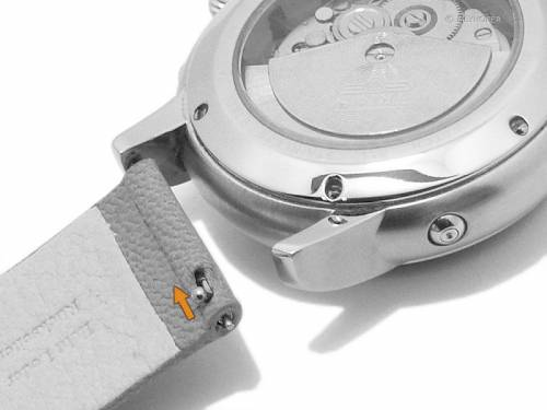 Meyhofer EASY-CLICK Uhrenarmband -Zermatt- 16mm hellbraun Ziegen-Leder genarbt (Schließenanstoß 16 mm) - Bild vergrößern