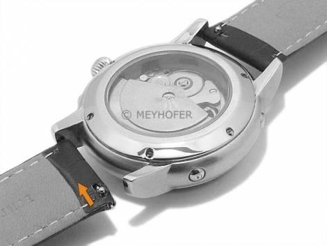 Meyhofer EASY-CLICK Uhrenarmband -Nizza- 22mm hellgrün Leder Alligator-Prägung Faltschließe (Schließenanstoß 20 mm) - Bild vergrößern