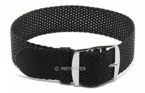 MEYHOFER Basic Uhrenarmband-Set 4-teilig -Atmore- 18mm schwarz/mittelblau/olivgrün/grau Perlon/Textil Durchzugsband - Bild vergrößern