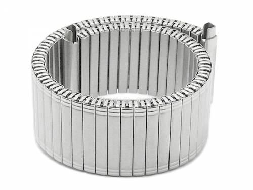 Uhrenarmband -Ellmau- 20-22mm Edelstahl-Zugband mit Teleskop-Anstoß teilweise poliert von MEYHOFER - Bild vergrößern