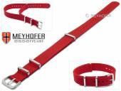 Uhrenarmband Kearney 16mm rot Textil/Synthetik Durchzugsband im NATO-Style von MEYHOFER