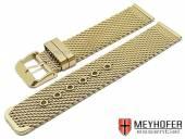 Uhrenarmband Lockport 18mm goldfarben Milanaise mittelschweres Geflecht mit Dornschließe von MEYHOFER