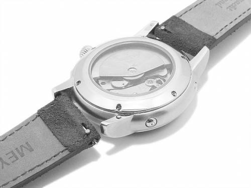 Meyhofer EASY-CLICK Uhrenarmband -Neckar- 18mm dunkelblau Leder Velours abgenäht Made in Germany (Schließenanstoß 16 mm) - Bild vergrößern