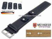 Uhrenarmband Kassel Classic 14-16-18-20mm Wechselanstoß dunkelblau Leder genarbt helle Naht Unterlagenband Meyhofer